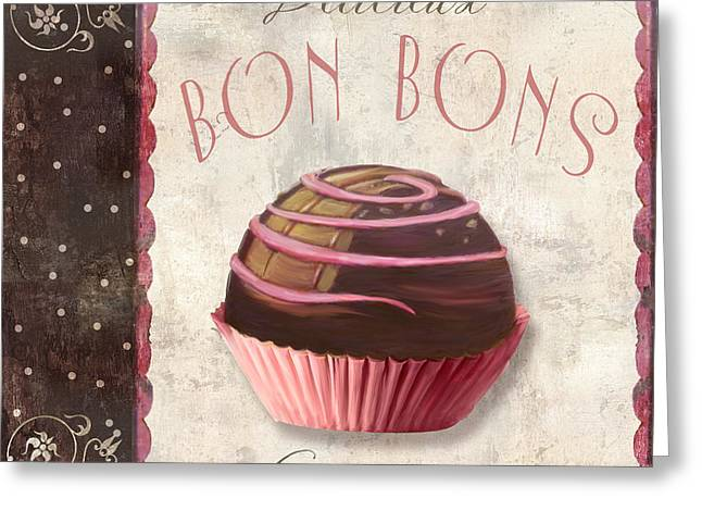 Chocolate Cake Greeting Cards - Patisserie Bon Bons Greeting Card by Mindy Sommers