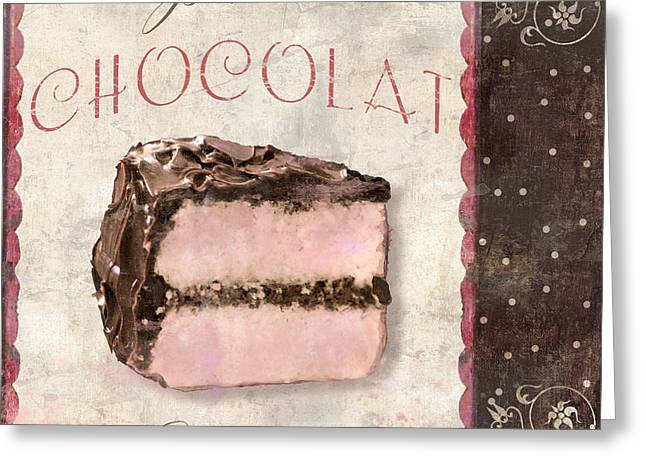 Chocolate Cake Greeting Cards - Patisserie Gateau au Chocolat Greeting Card by Mindy Sommers