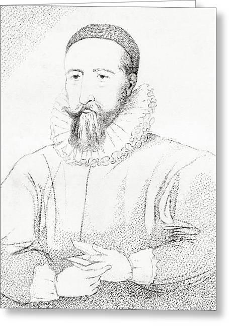 Reformer Drawings Greeting Cards - Patrick Hamilton, 1504 Greeting Card by Ken Welsh