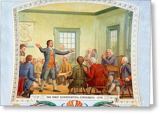 Patrick Henry, First Continental Greeting Card by Science Source