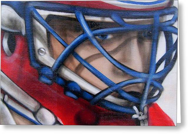 Patrick Roy ... Greeting Card by Juergen Weiss
