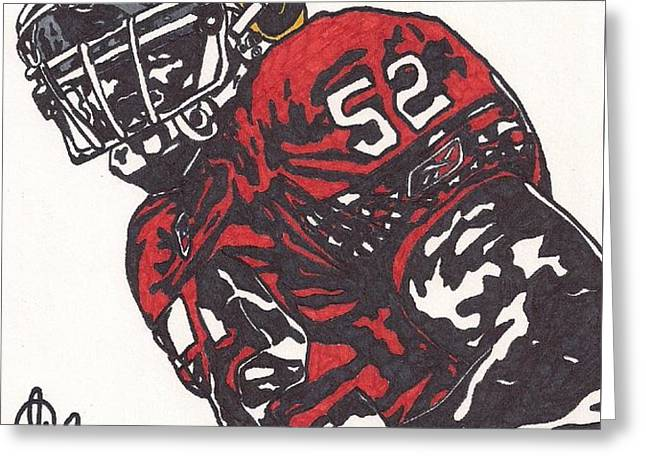 Patrick Willis Greeting Card by Jeremiah Colley