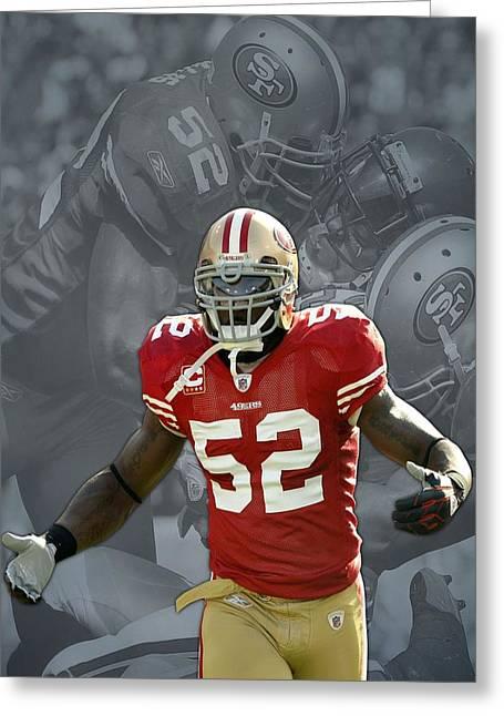 Patrick Willis Greeting Cards - Patrick Willis San Francisco 49ers Greeting Card by Joe Hamilton