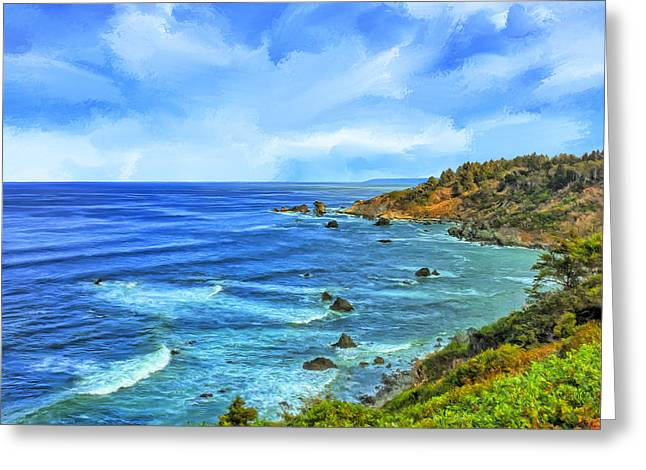 Agate Beach Greeting Cards - Patricks Point Greeting Card by Dominic Piperata