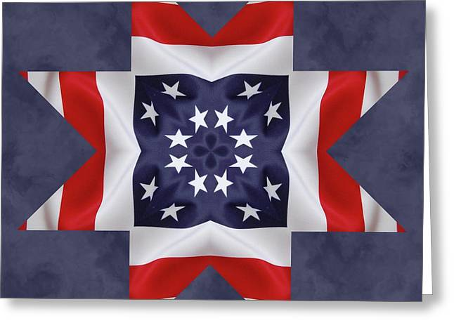 Patriotic Star 2 Greeting Card by Jeff Kolker
