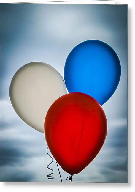 Patriotic Balloons Greeting Card by Carolyn Marshall