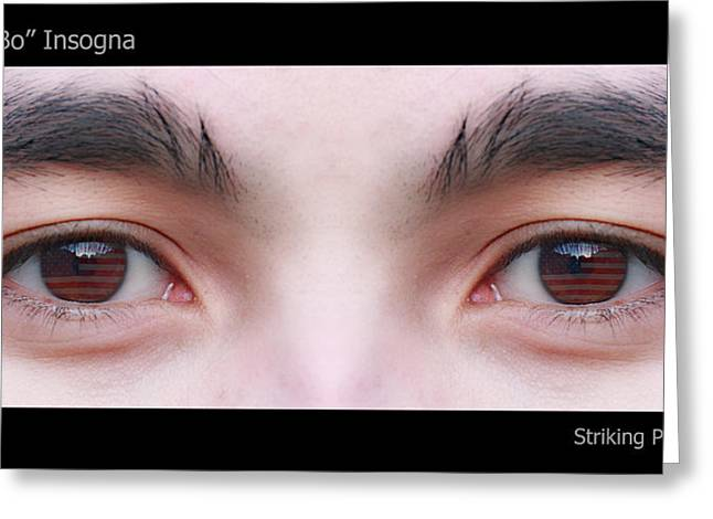 Striking Images Greeting Cards - Patriotic Eyes - Poster Greeting Card by James BO  Insogna