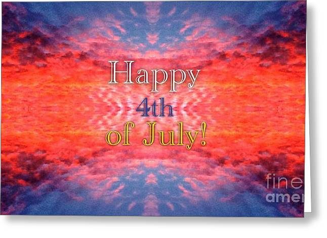 Photographs With Red. Greeting Cards - Patriotic Fourth of July Greeting Greeting Card by Kimberlee  Baxter