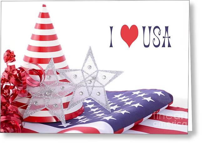 American Independance Greeting Cards - Patriotic party decorations for USA Events Greeting Card by Milleflore Images