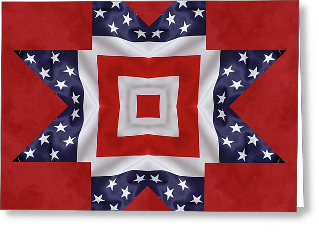 Patriotic Star 1 Greeting Card by Jeff Kolker
