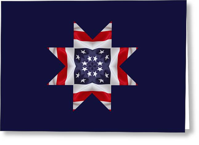 Patriotic Star 2 - Transparent Background Greeting Card by Jeff Kolker