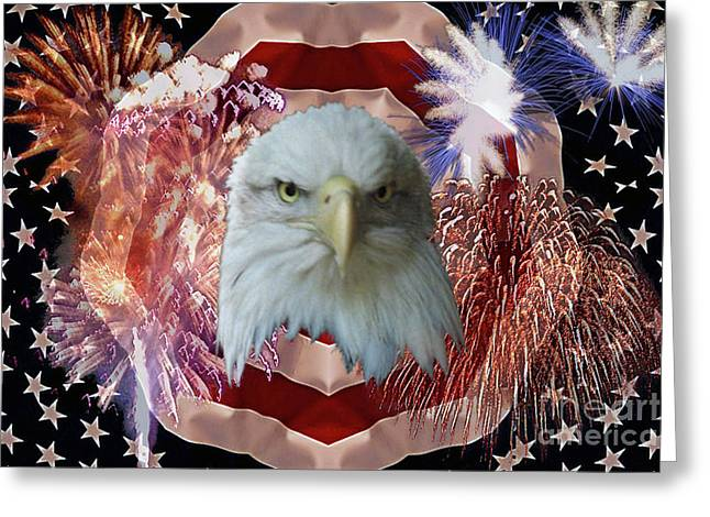 Gallantry Greeting Cards - Patriotic tribute Greeting Card by Ken Frischkorn