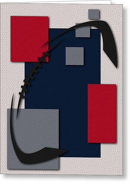 New England Patriots Greeting Cards - Patriots Football Art Greeting Card by Joe Hamilton