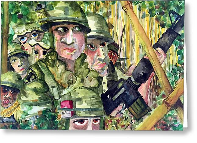 Jame Hayes Paintings Greeting Cards - Patrol Greeting Card by Jame Hayes
