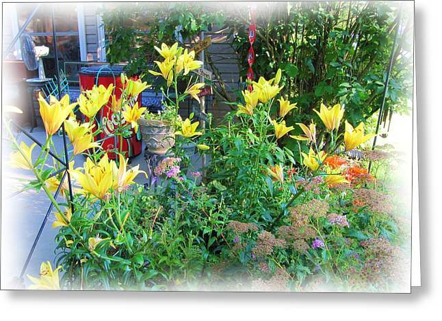 Day Lilly Digital Greeting Cards - Pats Porch Greeting Card by Beth Major