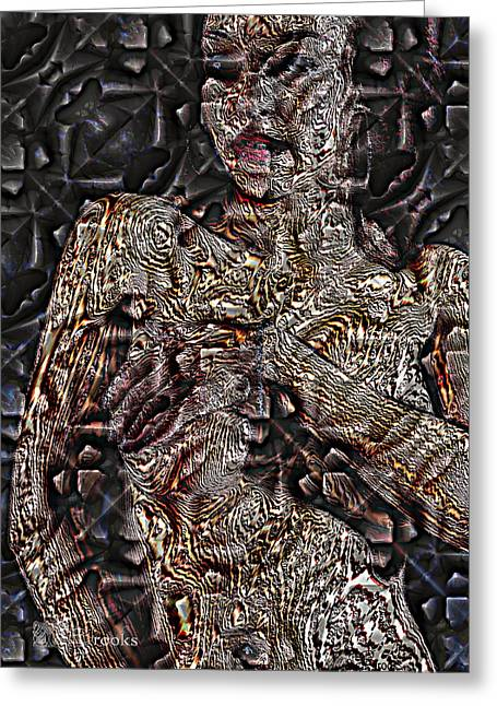 Creative People Greeting Cards - Pattern 39 Greeting Card by Mark Brooks