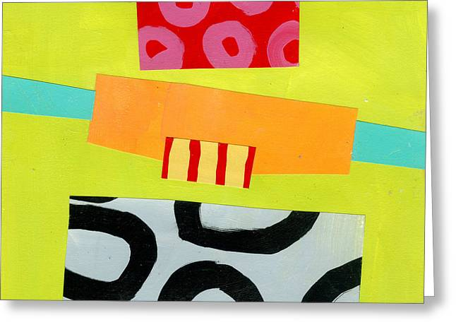 Abstract Pattern Paintings Greeting Cards - Pattern # 8 Greeting Card by Jane Davies