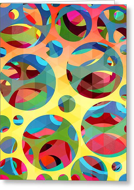 Geometric Shape Greeting Cards - Pattern 3 Greeting Card by Mark Ashkenazi