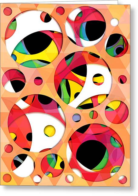 Geometric Shape Greeting Cards - Pattern 4  Greeting Card by Mark Ashkenazi