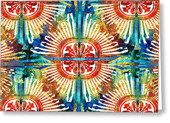 Pattern Art - Color Fusion Design 2 By Sharon Cummings Greeting Card by Sharon Cummings