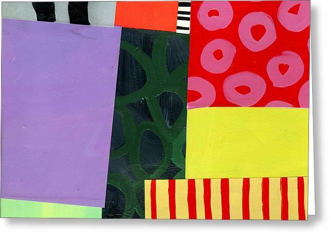 Pattern Grid # 4 Greeting Card by Jane Davies