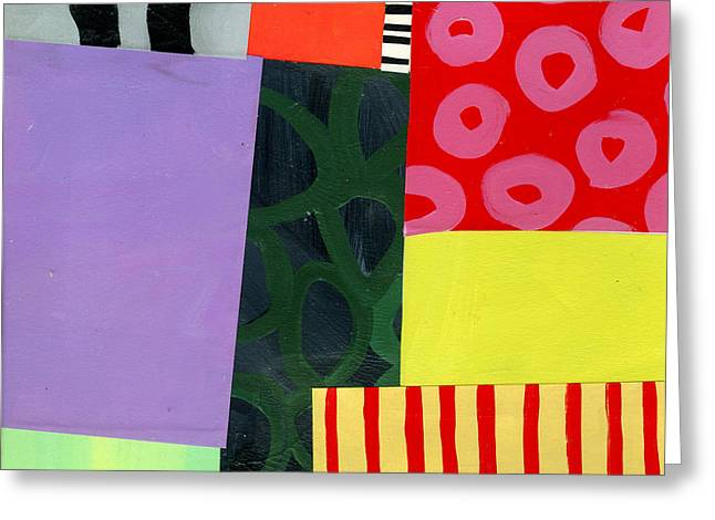 Abstract Pattern Paintings Greeting Cards - Pattern Grid # 4 Greeting Card by Jane Davies