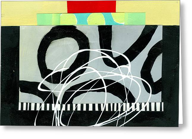 Abstract Pattern Paintings Greeting Cards - Pattern Grid # 5 Greeting Card by Jane Davies