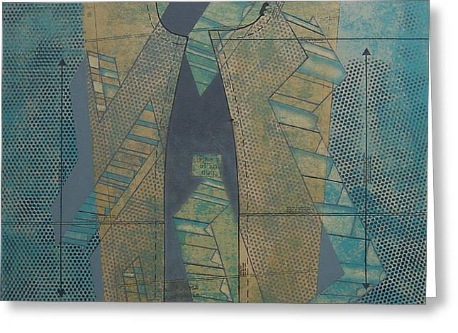 Patterns Series Number Seven Greeting Card by Sonja Olson
