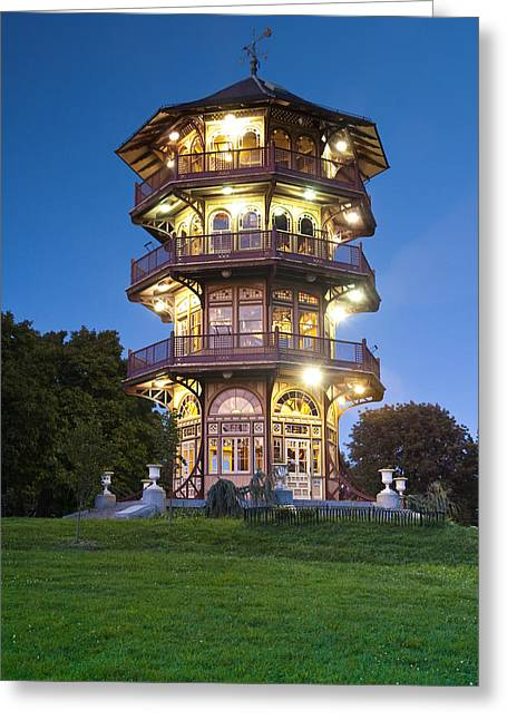 Observation Greeting Cards - Patterson Park Pagoda. Baltimore Maryland  Greeting Card by Matthew Saindon