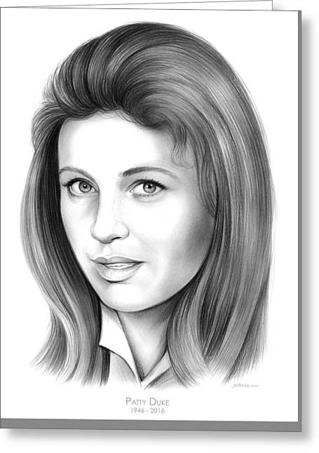 Patty Duke Greeting Card by Greg Joens