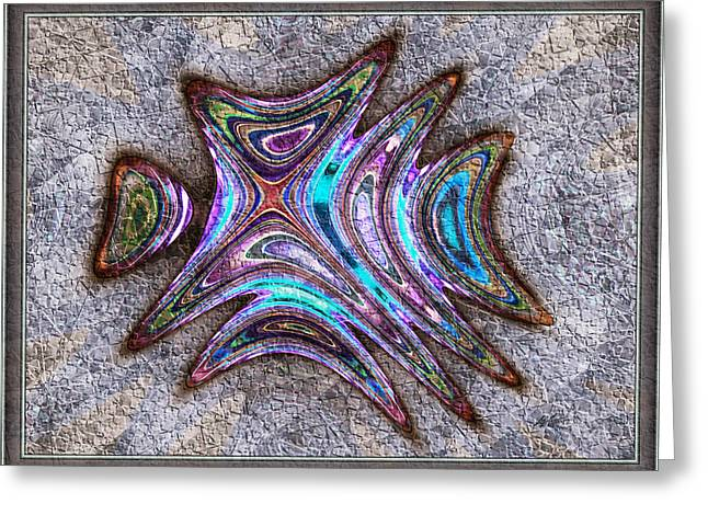 Shell Texture Greeting Cards - Paua Medallion Greeting Card by Kiki Art