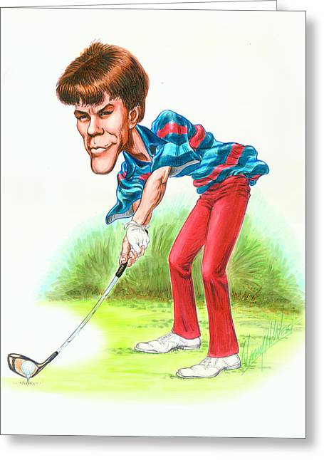 Golf Drawings Greeting Cards - Paul Azinger Greeting Card by Harry West
