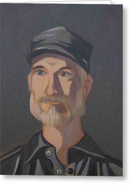 Paul Bright Portrait Greeting Card by John Holdway