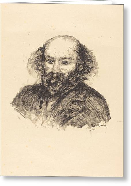 Famous ist Drawings Greeting Cards - Paul Cezanne Greeting Card by Auguste Renoir