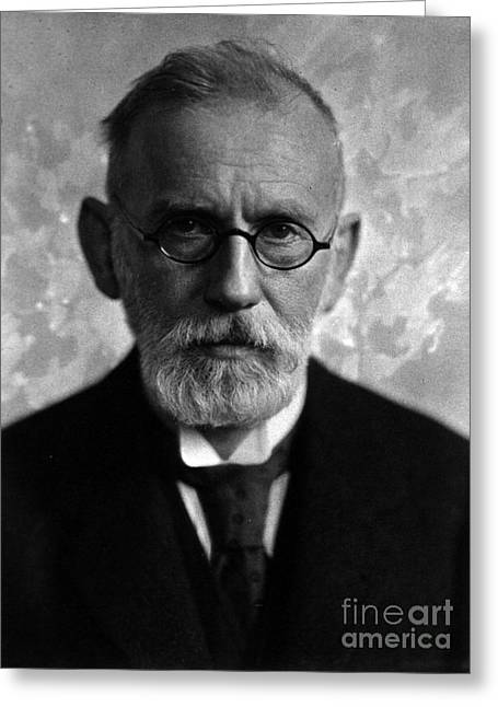 Immunology Greeting Cards - Paul Ehrlich, German Immunologist Greeting Card by Science Source