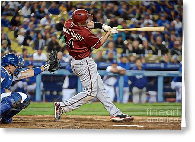 Paul Greeting Cards - Paul Goldschmidt Greeting Card by Marvin Blaine