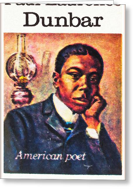 African Heritage Greeting Cards - Paul Laurence Dunbar Greeting Card by Lanjee Chee