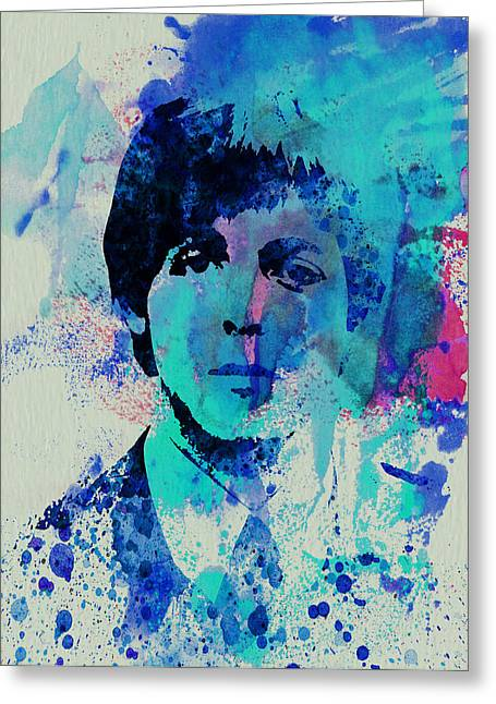 Beatles Paintings Greeting Cards - Paul McCartney Greeting Card by Naxart Studio