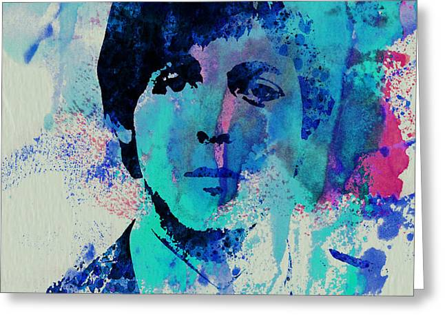 Paul McCartney Greeting Card by Naxart Studio