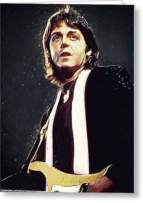 80s Pop Music Greeting Cards - Paul McCartney Greeting Card by Taylan Soyturk