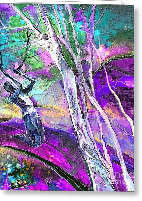 Religion Mixed Media Greeting Cards - Paul on The road to Damascus Greeting Card by Miki De Goodaboom