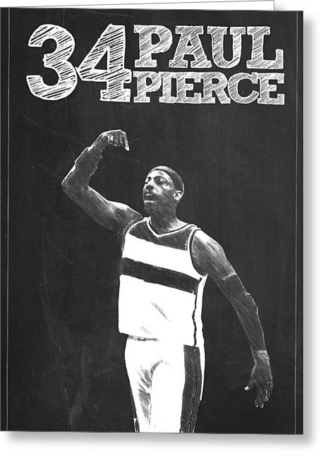 Kobe Bryant Wall Art Greeting Cards - Paul Pierce Greeting Card by Semih Yurdabak