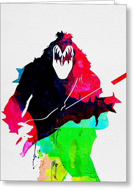 Disco Greeting Cards - Paul Watercolor Greeting Card by Naxart Studio