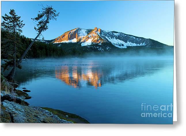 Newberry Greeting Cards - Paulina Peak In Paulina Lake Greeting Card by Adam Jewell