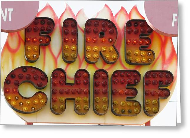 Pavilion Greeting Cards - Pavilion Fire Chief Greeting Card by Kelly Mezzapelle