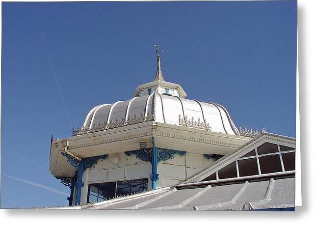 Seaside Greeting Cards - Pavilion Roof - Llandudno Pier Greeting Card by Rod Johnson