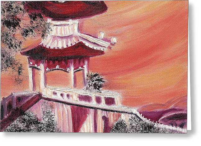 Pavillion in China Greeting Card by Suzanne  Marie Leclair