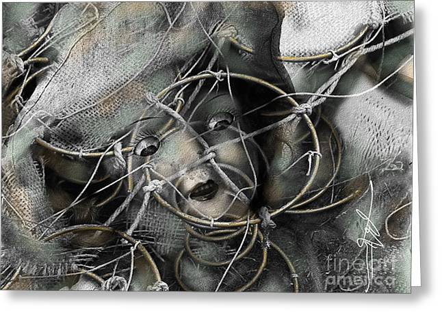 Creepy Mixed Media Greeting Cards - Pavor Nocturnus Greeting Card by Bob Salo