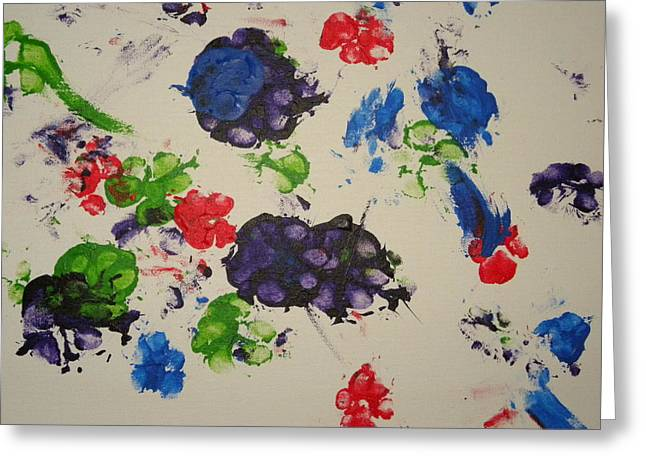 Autograph Paintings Greeting Cards - Pawgraphs Greeting Card by Kathleen Giese