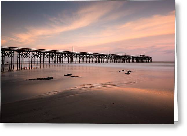 Pawleys Island Pier Sunset Greeting Card by Ivo Kerssemakers